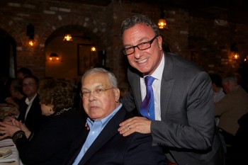 Boston Mayor Thomas M. Menino and City Councilor Salvatore LaMattina at Antico Forno at the 2013 CityFeast to benefit Joslins Diabetes Center.
