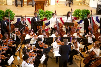Boston Youth Orchestra  Intensive Community Program, Marta Zurad, Conductor at Faneuil Hall on MLK Jr Day 2013 (1)