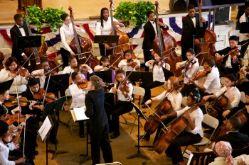 Boston Youth Orchestra  Intensive Community Program, Marta Zurad, Conductor at Faneuil Hall on MLK Jr Day 2013