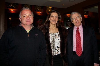 Lucca's Matt Williams (left) with CityFeast Founder, Carla Gomes and Joslin President John Brooks III.