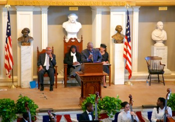 Reading by Marvin Gilmore at MLK Jr Day at Faneuil Hall 2013
