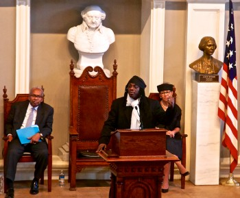 Regie Gibson at Faneuil Hall on MLK Jr. Day 2013