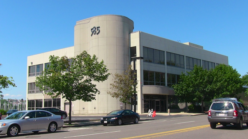 585 Commercial Street - Formerly occupied by Roche Bobois Furniture and former national headquarters for the Mitt Romney presidential campaign. (NEWF photo)