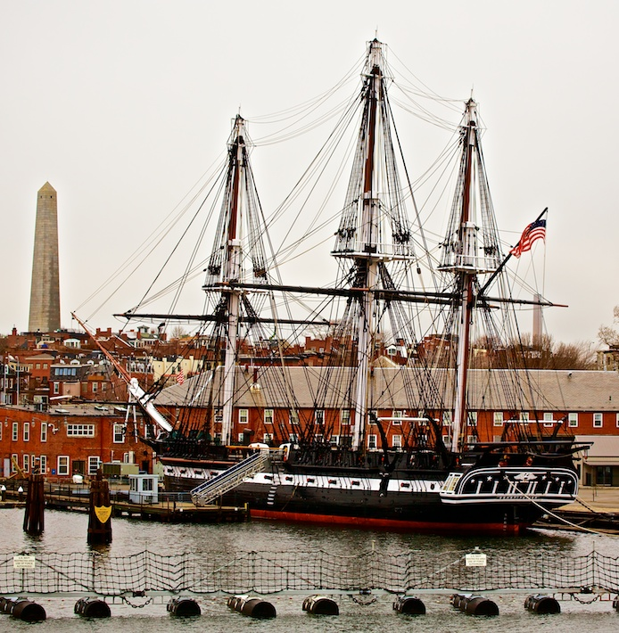 USS Constitution and Bunker Hill Monument - Charlestown