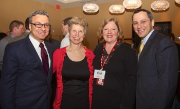 City Councilor Sal LaMattina, Lisa Ayres, Friends President Robin Ardito and State Rep. Aaron Michlewitz