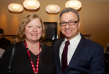 Friends President Robin Ardito with City Councilor Sal LaMattina