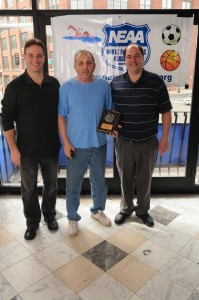 From the left, Commissioner Ralph Martignetti, Regional Review's Phil Orlandella and Sports Coordinator John Romano