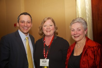 From the left, State Rep. Aaron Michlewitz, Friends President Robin Ardito and Past-President Phyllis Vitti