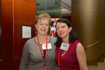 Fundraiser organizers, Paula Luccio and Jane Gorham Connolly