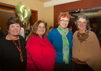 Library Supporters, from the left, Alison, Adrianna, Katie and Patricia