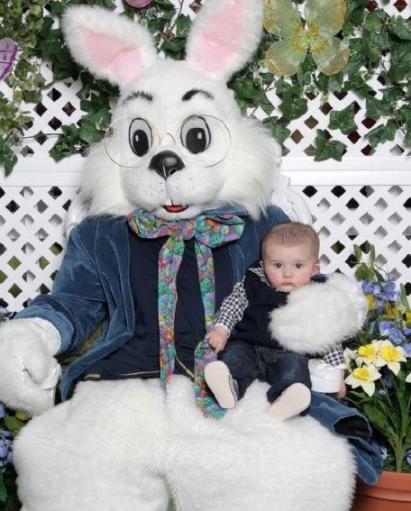 North Ender, MMB Jr Bamonte, with the Easter Bunny