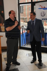 NEAA Sports Coordinator John Romano and State Rep. Aaron Michlewitz