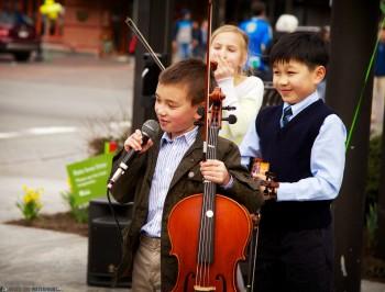 Kids from the Boston String Academy