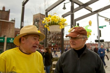 David and Tom on Daffodil Day