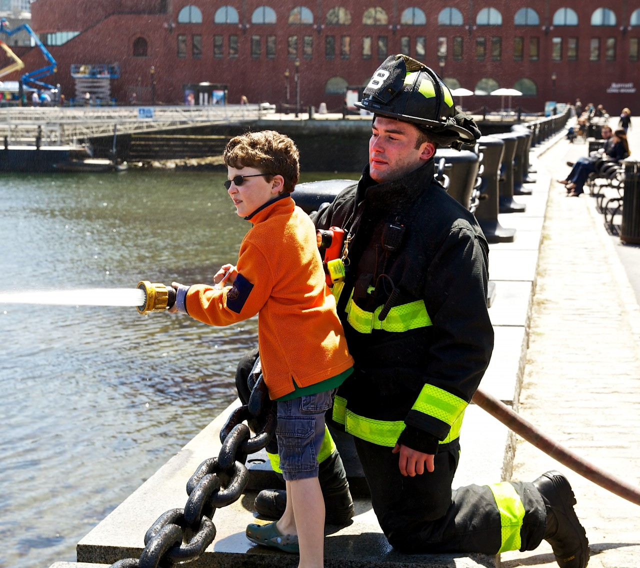 Jack learns about firefighting from Boston Fire Engine 8