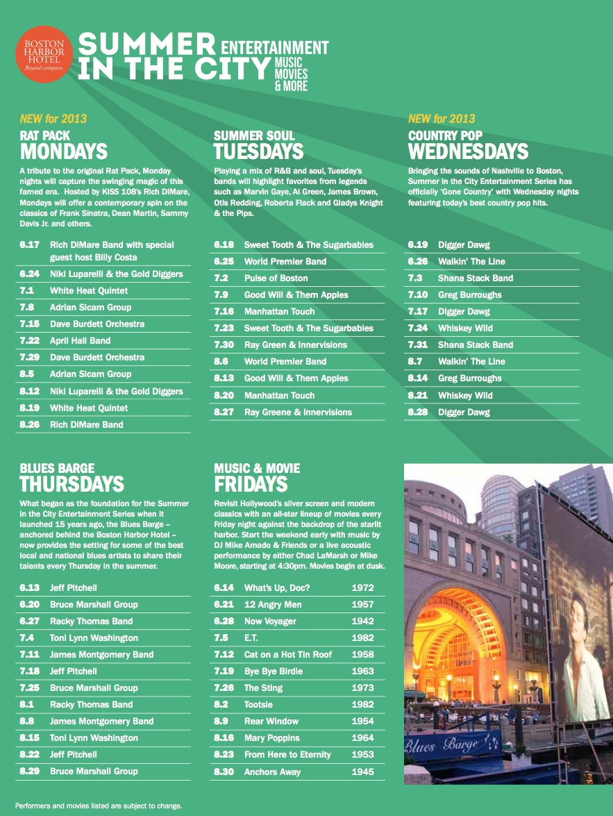 BHH Summer Events 2013