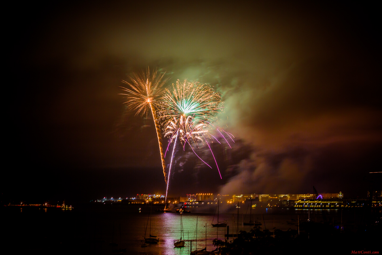 Fireworks Over Boston Harbor (NEWF Photo)