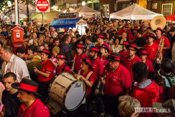 A throwback photo of the 94th Saint Anthonys Feast in Bostons North End. Photo by Matt Conti