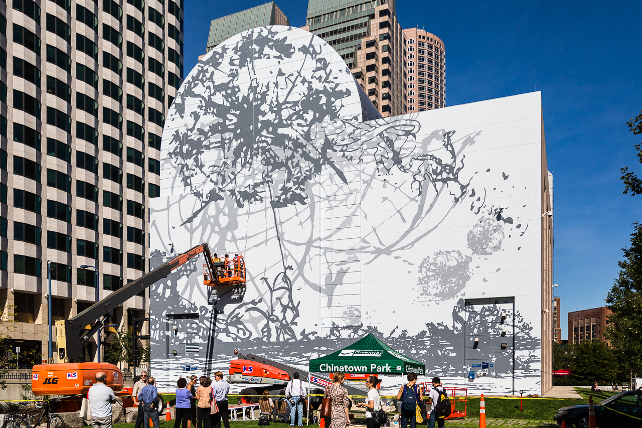 Dewey Square Park on the Greenway will have a new mural (NEWF Photo)