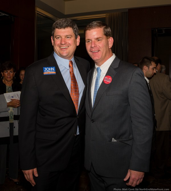Mayoral Candidates John Connolly and Marty Walsh. (NEWF Photo)