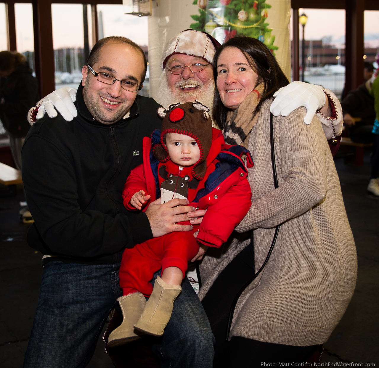 The Bamonte Family with Santa Claus