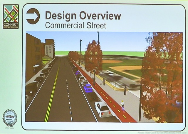 Commercial Street Cycle Track Design Rendering