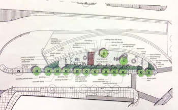 RUFF's detailed proposal for a dog park on the Greenway, courtesy of BostonZest