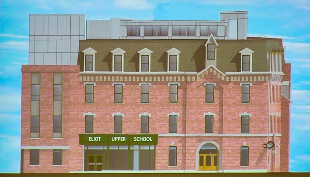 Rendering of remodeled building at North Bennet and Salem Streets (BPS)