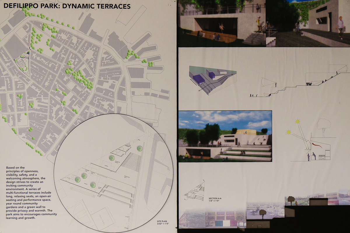 Sarah St. Onge + Emily Lampert  (Third Place Overall: Invited Jury) title: Defilippo Park: Dynamic Terraces