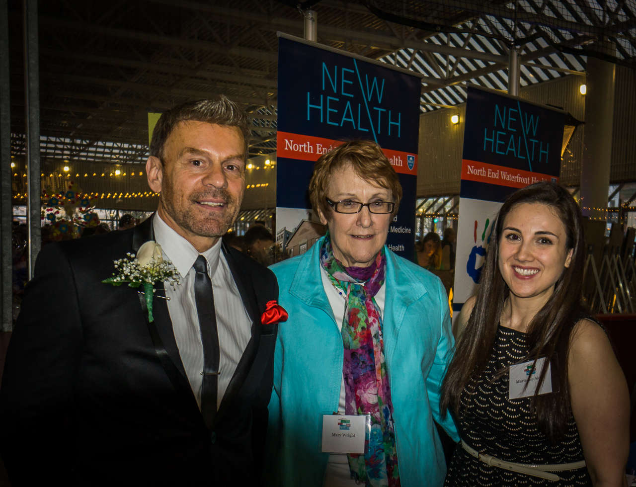 (L-R) NEW Health CEO Jim Luisi, Health Educator Mary Wright and TONE Coordinator Marianne Aiello