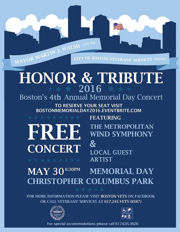2016 memorial day concert Christopher Columbus Park
