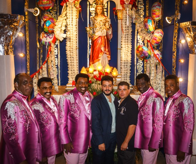 The Temptations with St. Agrippina's Feast Chair Warren and Mineo Deputy Mayor Salvatore
