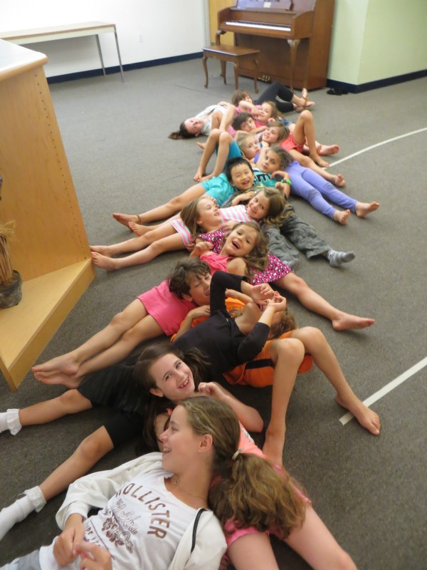 Yoga starts our day at NEMPAC Music Theatre Camp!