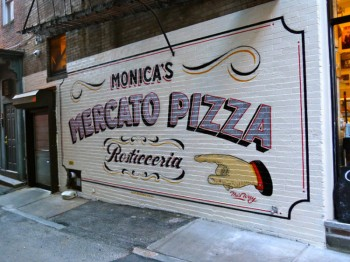 Monica's expanding to pizza in the basement.