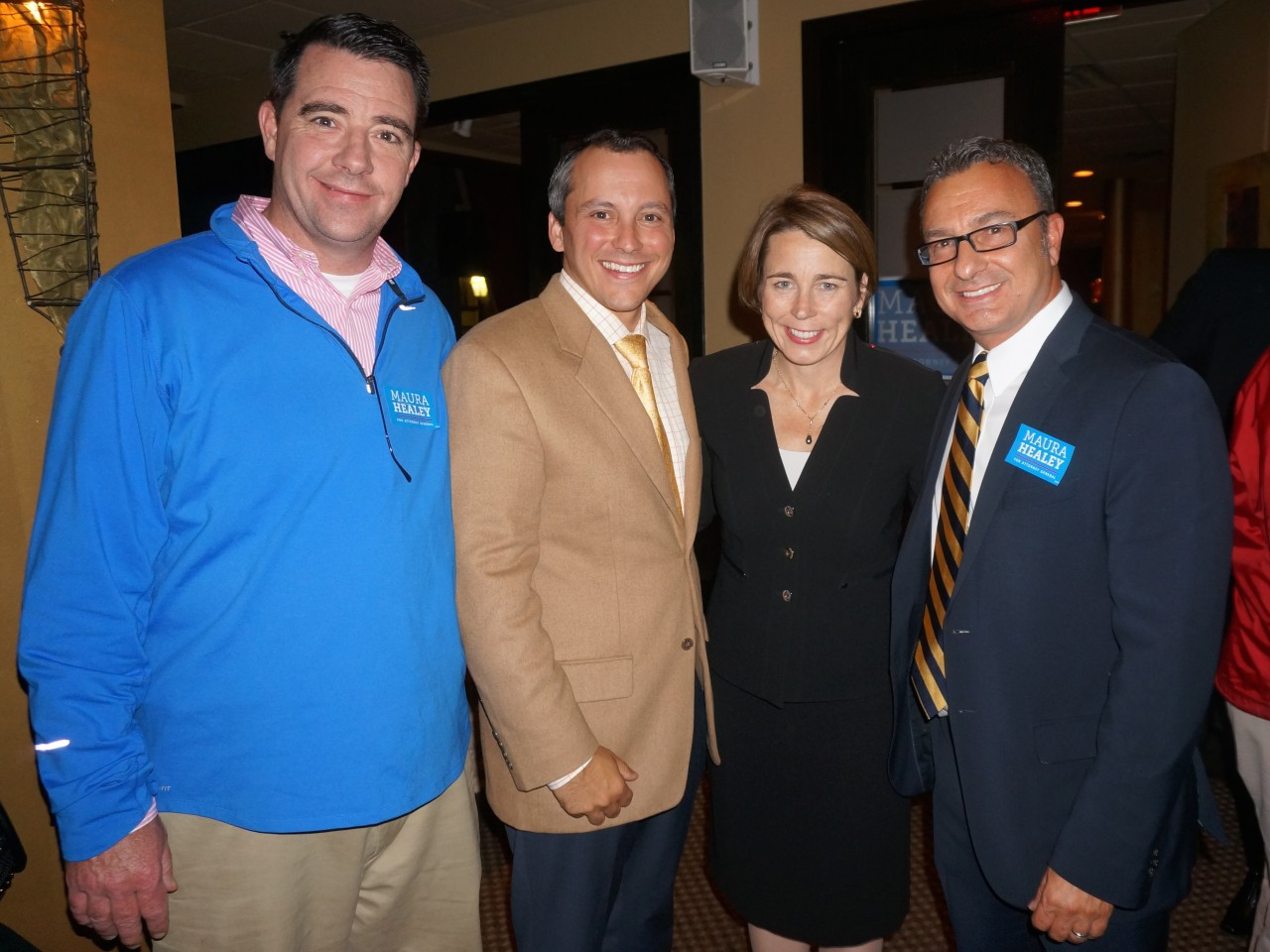 State Rep. Dan Ryan, State Rep. Aaron Michlewitz, Attorney General Candidate Maura Healey, Boston City Coucilor Sal LaMattina.