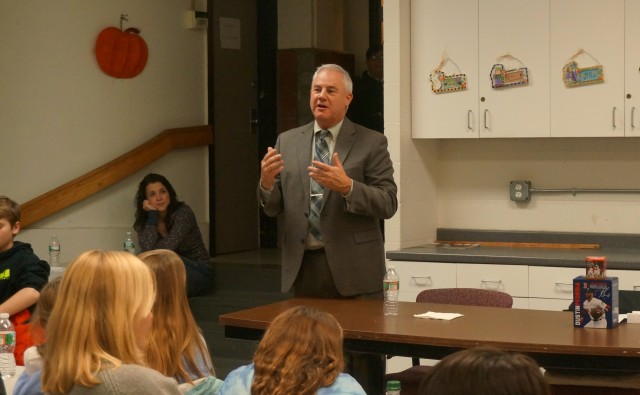 Acting Secretary Frank DePaola Speaks to kids at NEAD Family Dinner/Talk