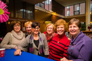 Ladies supporting the Friends of the North End Branch Library