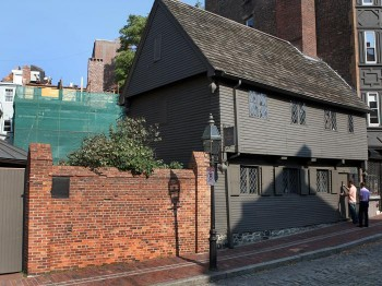 Paul Revere's House in the North End. Photo by David L. Ryan of the Boston Globe