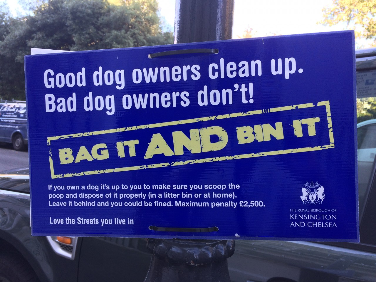 Dog Owners Clean Up Sign