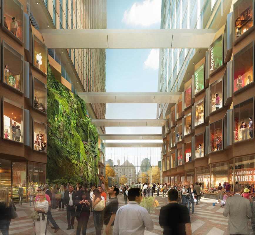 A rendering of the $1 billion mixed-use Harbor Garage proposal by Don Chiofaro.