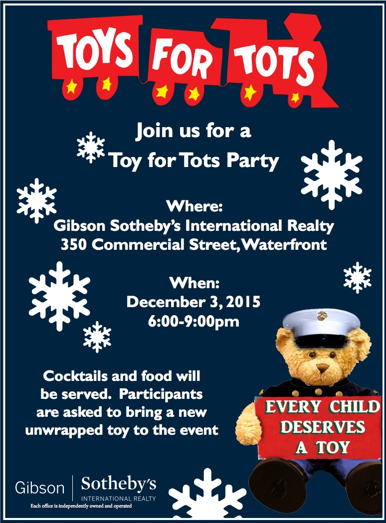 Toys For Tots Flyer 2017 : Toys for tots party on december rd northendwaterfront