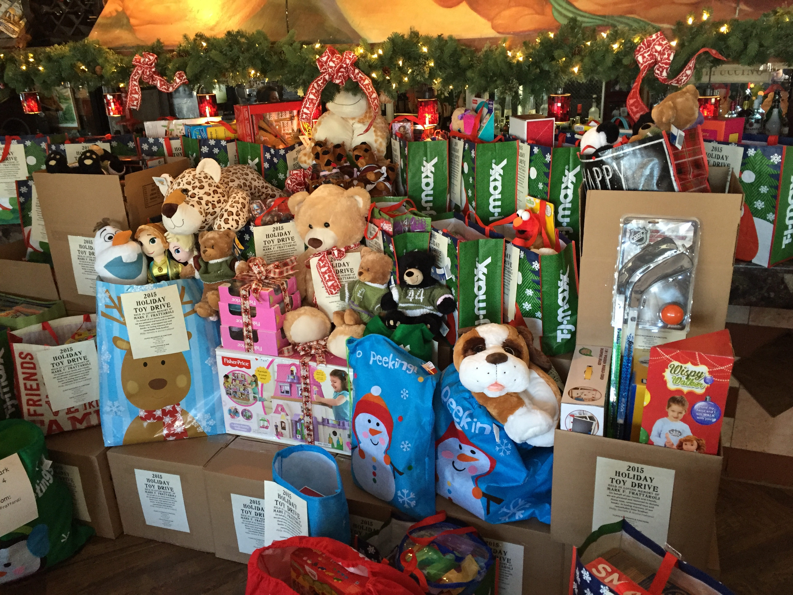 Over forty boxes of unwrapped toys for girls and boys aged 4-14.