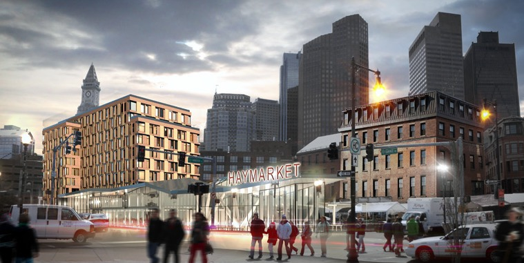 The Haymarket Hotel design shown above is under design consideration (Harbinger Development)