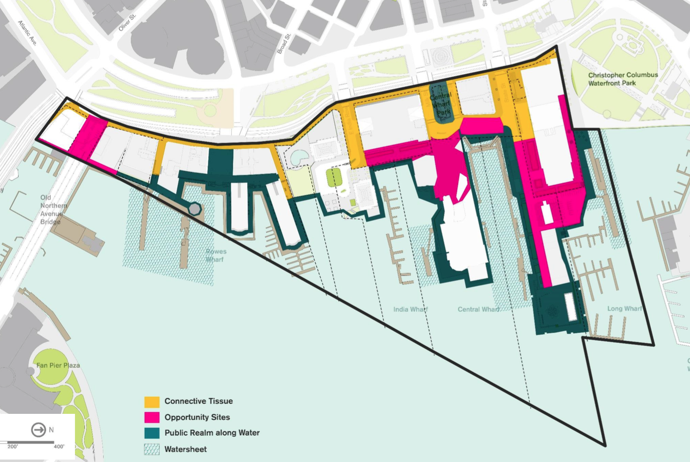 Study area for Downtown Waterfront Municipal Harbor Plan