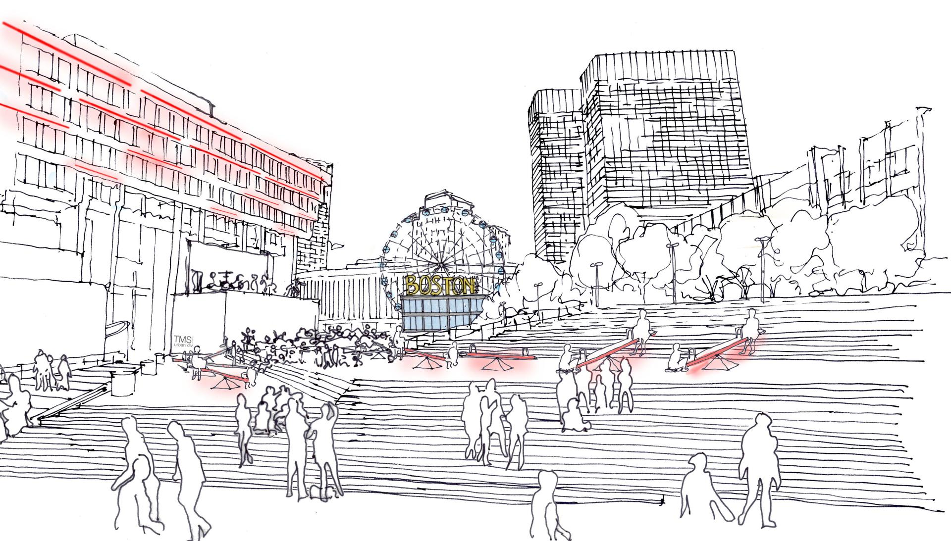 ferris wheel and winter skating proposed for new city hall plaza