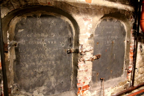 Tombs in the Crypt Beneath Old North Church