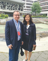 Councilor Sal LaMattina and Council President Michelle Wu in Rotterdam.