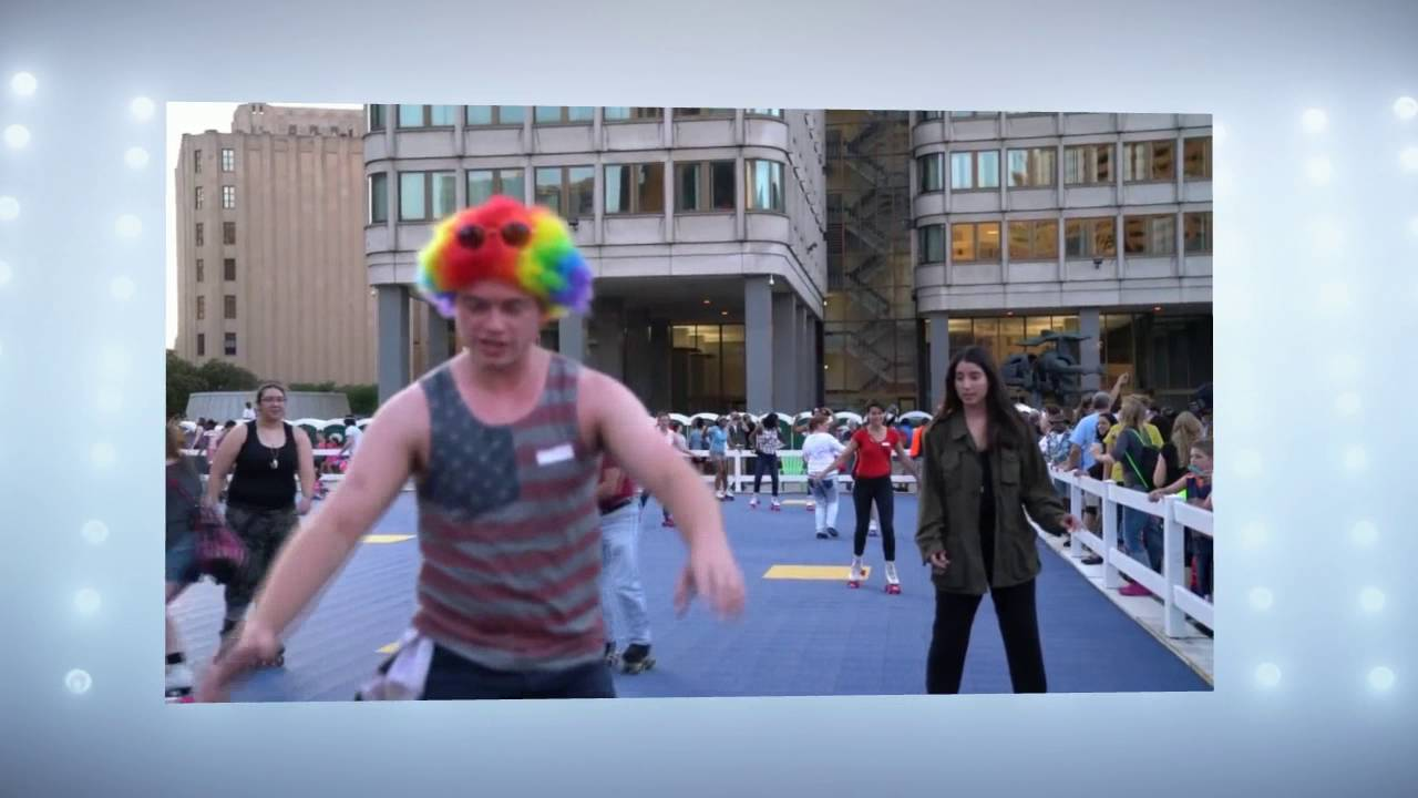 Video: Donna Summer Roller Disco Party at City Hall Plaza