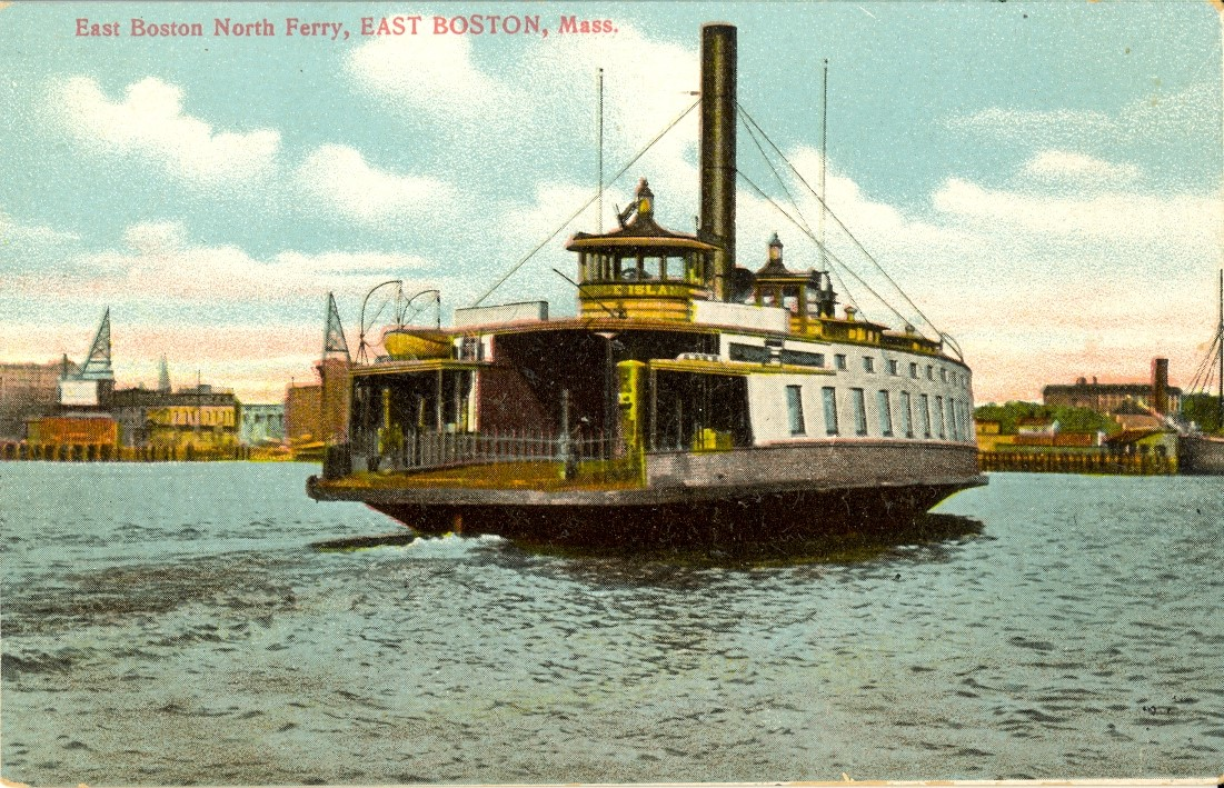 The name of the ferry was Noddle Island which was the old name for east Boston. I think it only held fewer than twenty automobiles. Getting to Oak Island or Revere Beach took a while on a hot summer day.
