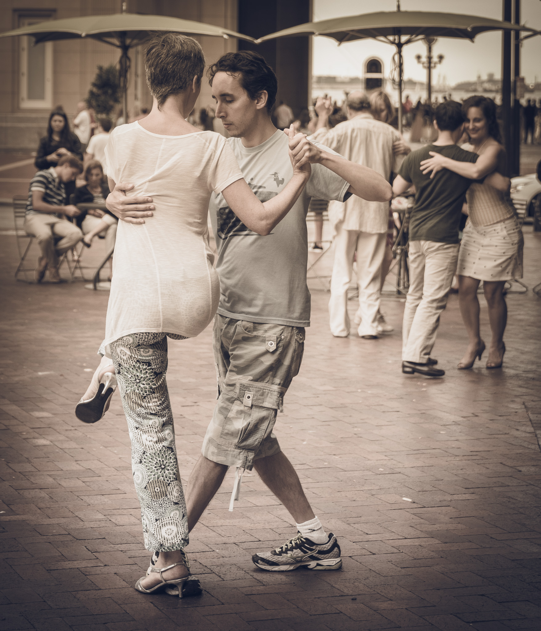Couples came out to the Rose Kennedy Greenway to dance the Argentine tango.